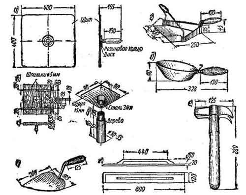 Инструмент для выполнения штукатурных работ