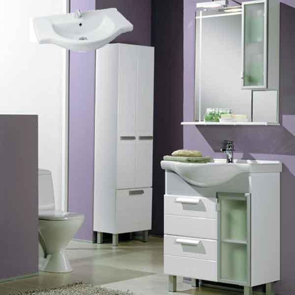 фото набора мебели для ванной и санузла, мебель для ванных акватон