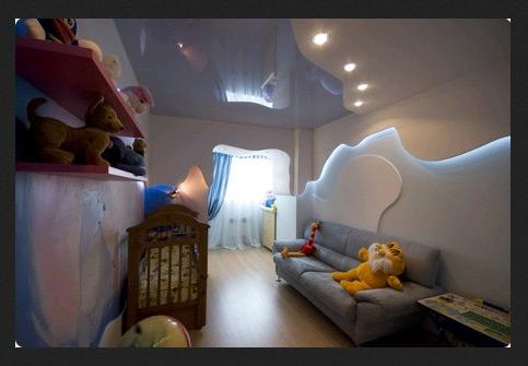 какой должен быть потолок в детской
