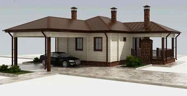Качество деревянного загородного дома из клееного бруса