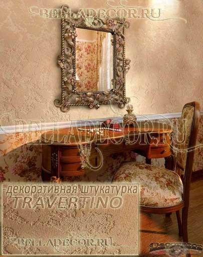 стена, покрытая декоративной штукатуркой