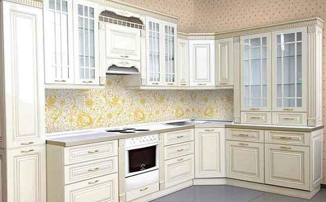 фото белого кухонного гарнитура