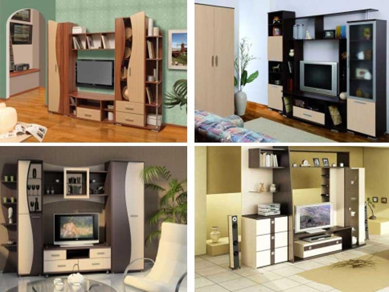 фото модульной мебели для гостиной, модульные горки в гостиную