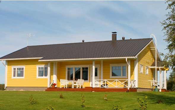 дом из недорогого клееного бруса
