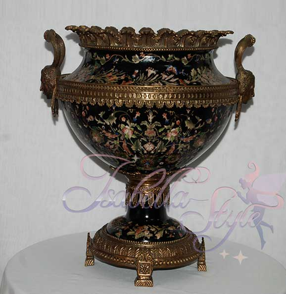 Фото керамической напольной вазы