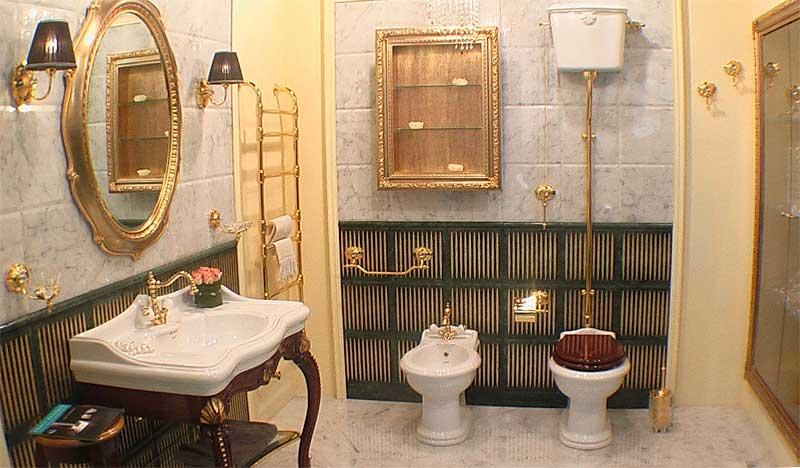 пол в ванной комнате из натурального камня
