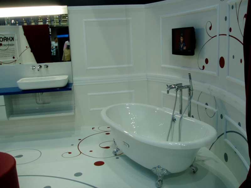 Фото наливного пола в ванной комнате