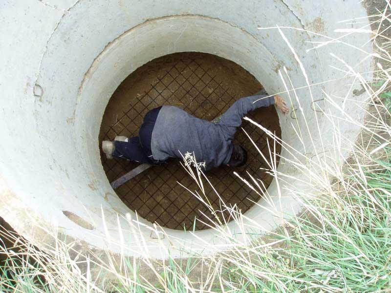 Фото бетонной камеры системы автономной канализации