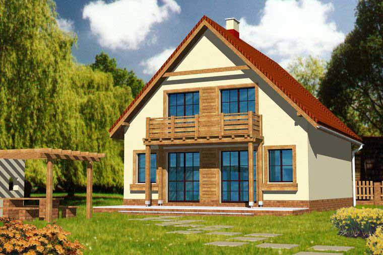 фото проекта загородного дома из пеноблока