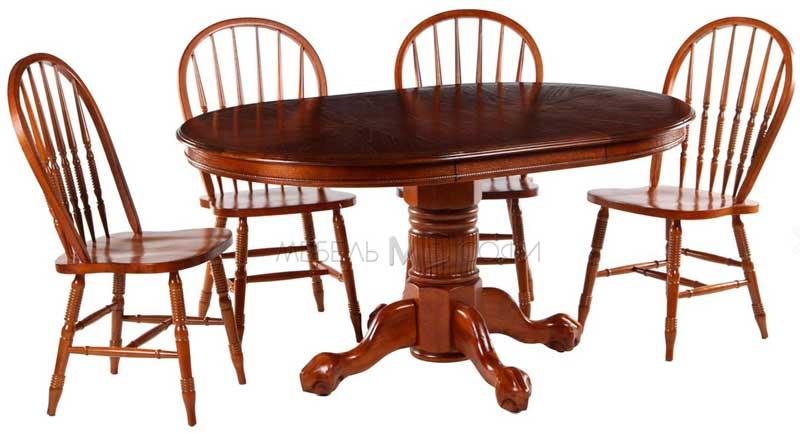 фото раскладного стола из массива гевеи