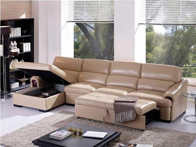 Удобства угловых кожаных диванов