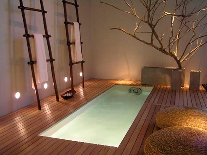 фото встроенной ванны в загородном доме