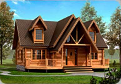 дом деревянный для загородного проживания