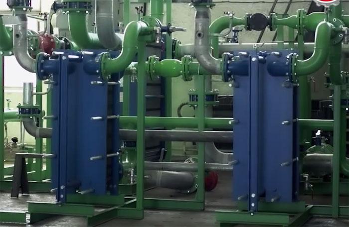 Системы отопления при помощи котлов и пластинчатых теплообменников