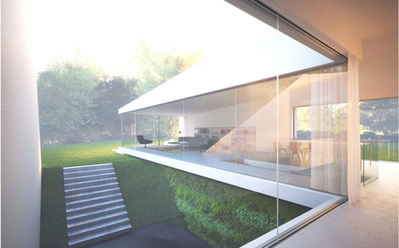 фото стеклянные стены дома