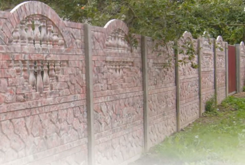 бетонный декоративный забор