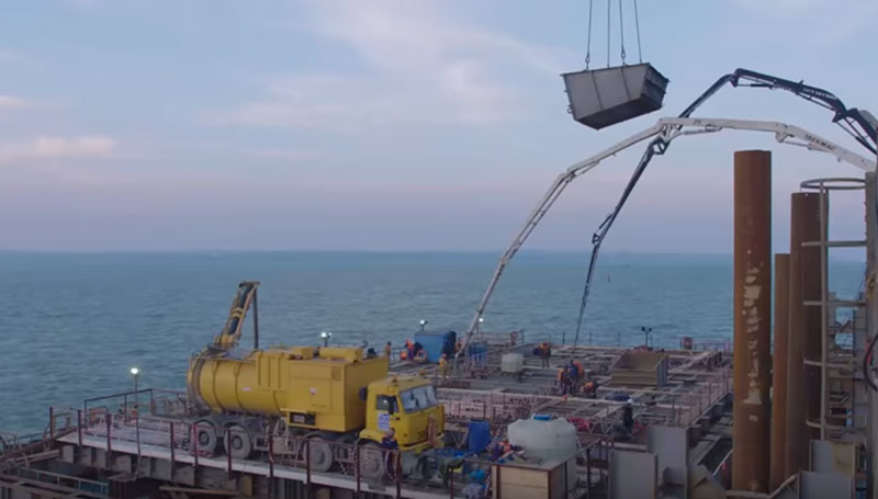 технология подводного бетонирования