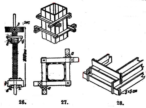 устройство железобетонных колонн установкой опалубки армированием