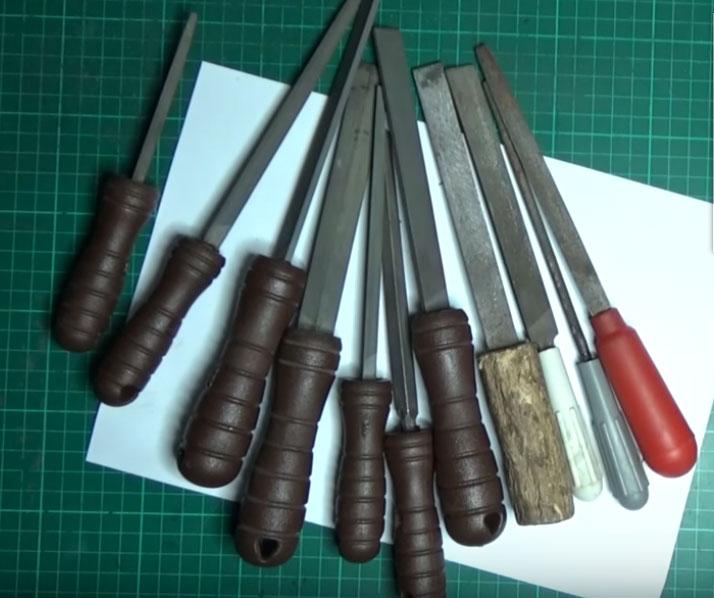 рабочий инструмент напильники