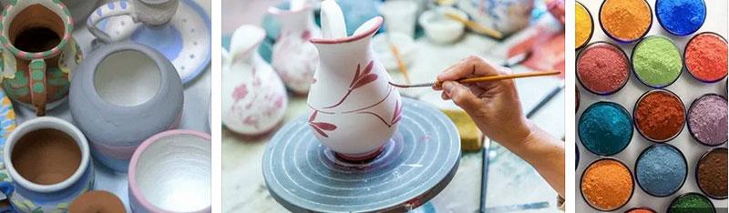 роспись керамическими красками