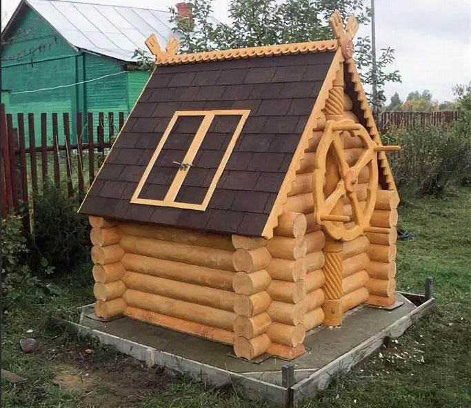фото деревянных колодцев