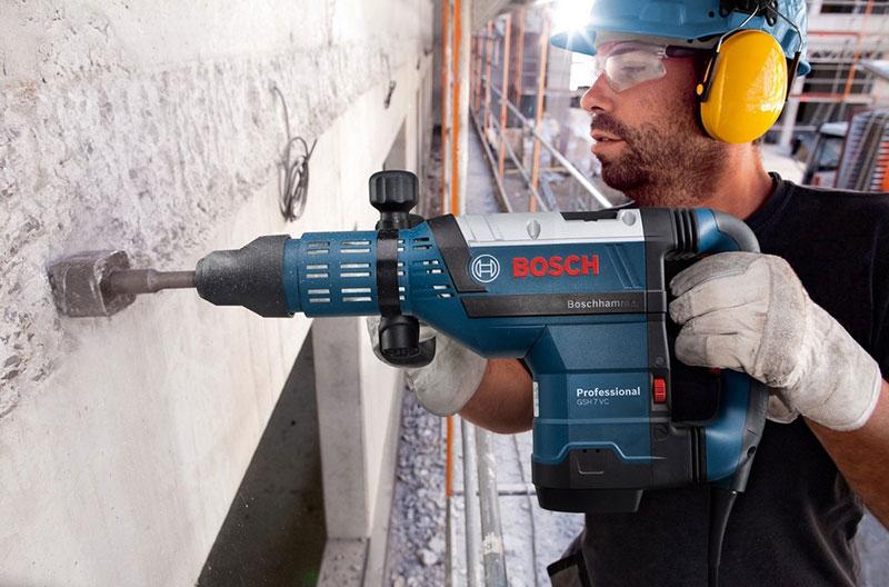 как правильно работать перфоратором по бетону