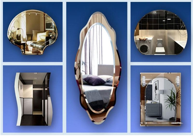 зеркало в гостиной на стене фото