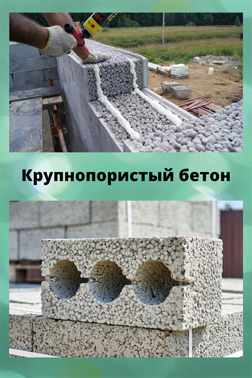 крупнопористые бетоны используют для возведения стен жилых