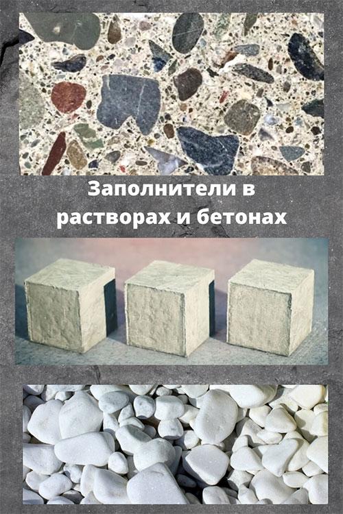 по виду заполнителей бетоны могут быть