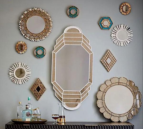 декоративные зеркала на стену для интерьера