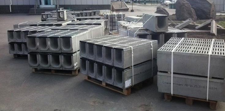 Лотки водоотводные бетонные, дренажные для отвода воды