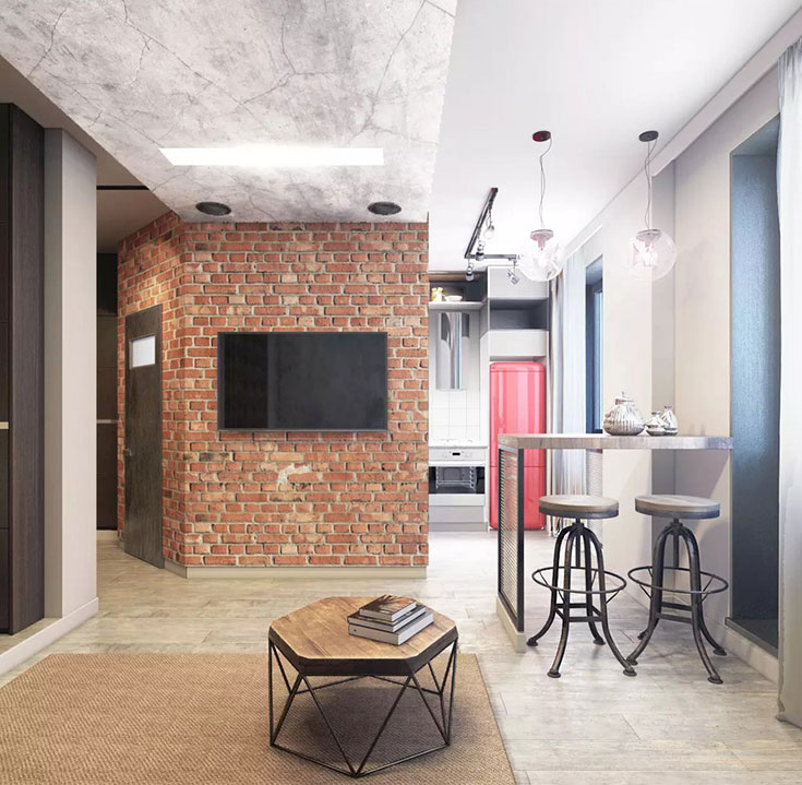 Дизайн однокомнатной квартиры от L.DesignStudio