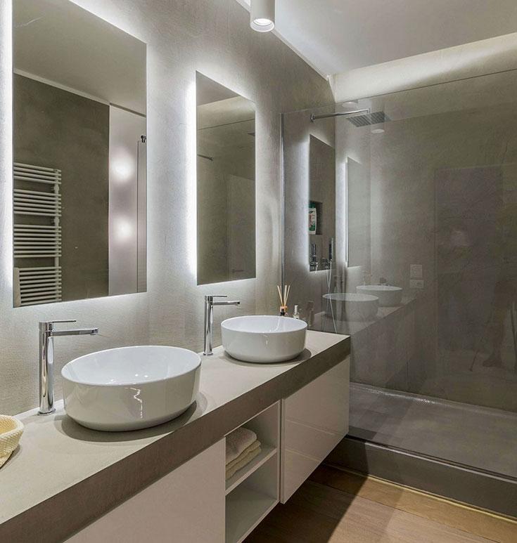 зеркала с подсветкой для ванной комнаты