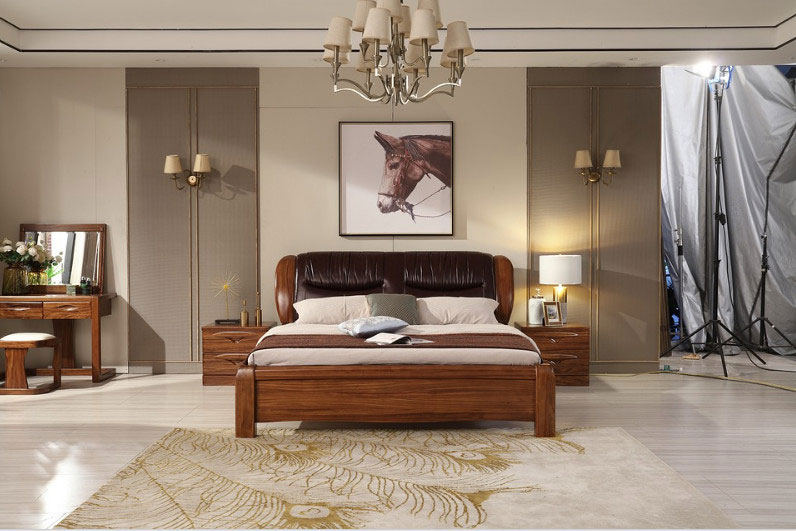 фото деревянной кровати