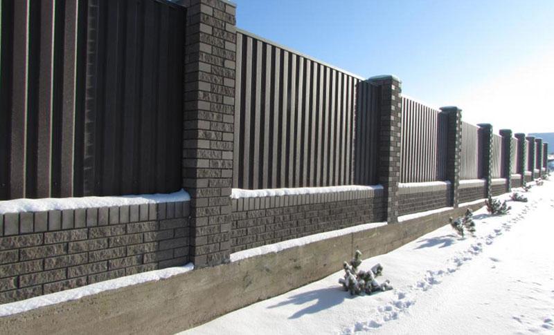 блоки для забора бетонные декоративные столбы