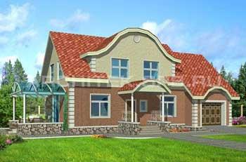 проект дома с кирпичными стенами