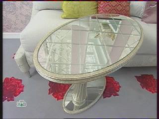 зеркальный кофейный столик