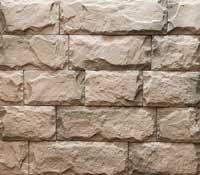 Искусственный камень, Для отделки цокольной части стен и каминов