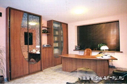 встроенный шкаф купе, шкаф-купе для библиотеки кабинета