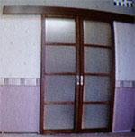 Гостиная стиль минимализм, входная дверь
