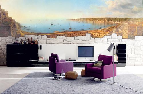 Вид моря из гостиной