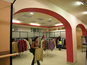 вид аркады магазина
