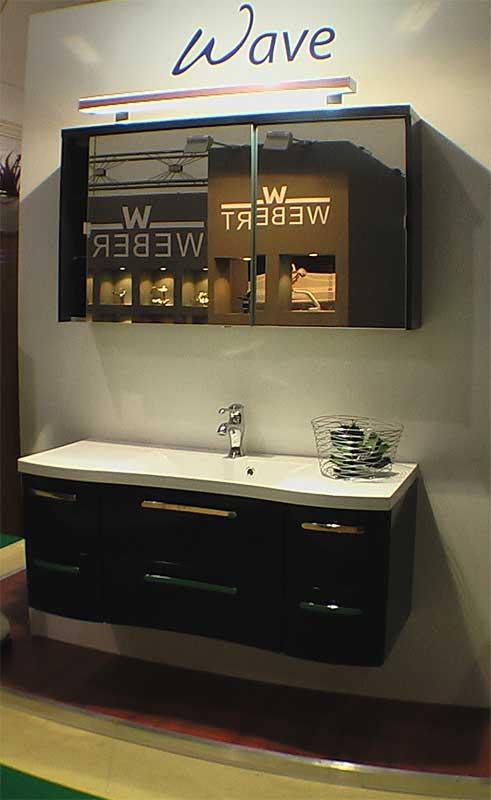 Черно-белый вариант ванной комнаты