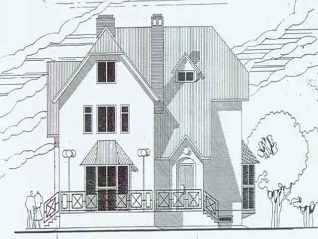 Дачный дом + мансарда