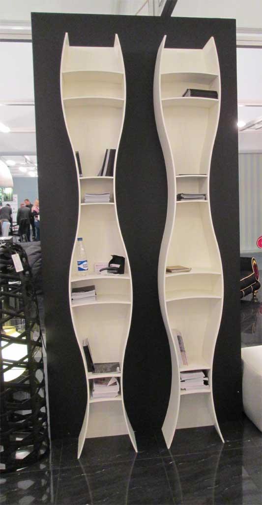 Дизайнерские стеллажи с полками для книг