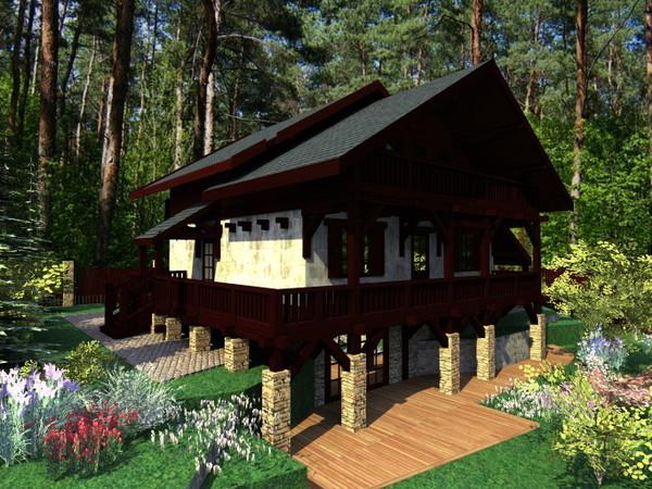 стильный маленький домик