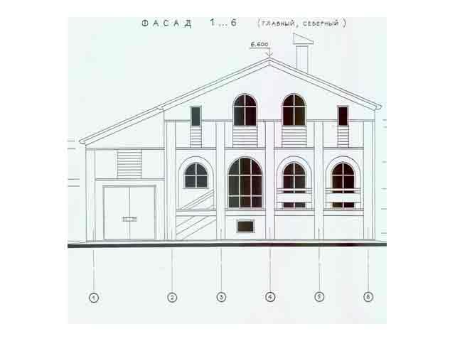 дом с полукруглыми окнами