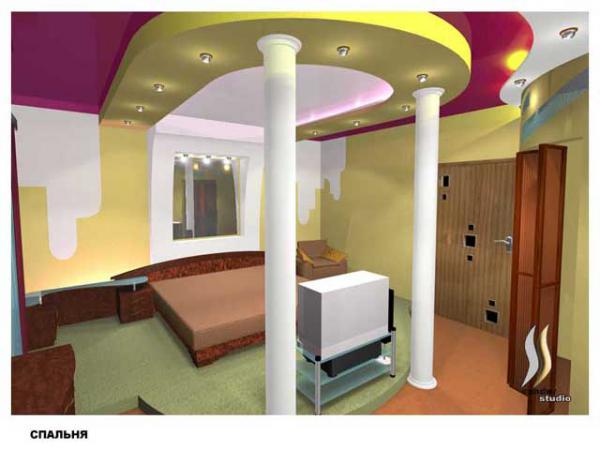 фото спальни с подиумом