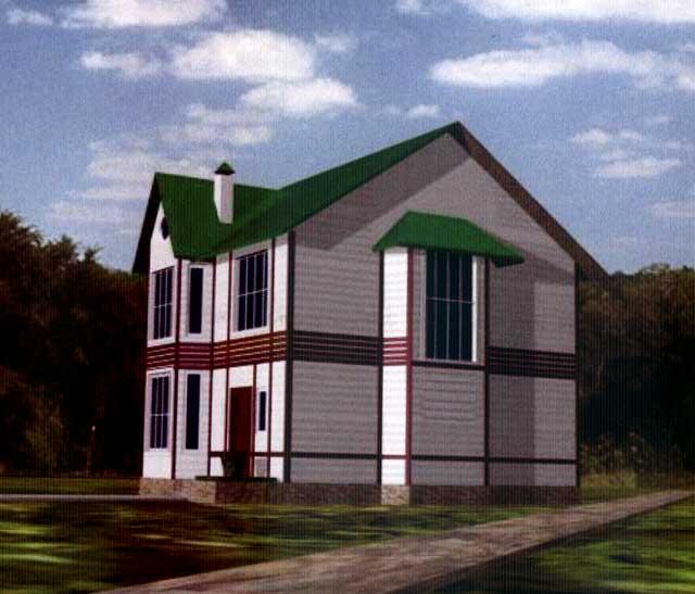 Вид кирпично-монолитного дома
