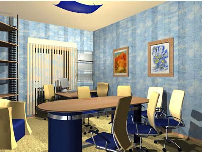 вид комнаты для переговоров